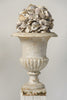 Pair Antique French Cast Iron Urns