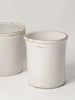 Antique Italian White Confit Pots