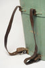 Amazing Antique French Wooden Grape Hopper with leather straps