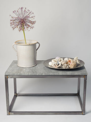 Marble and Steel Coffee Table