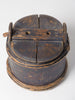 Antique Swedish Wooden Bucket Tub with lid