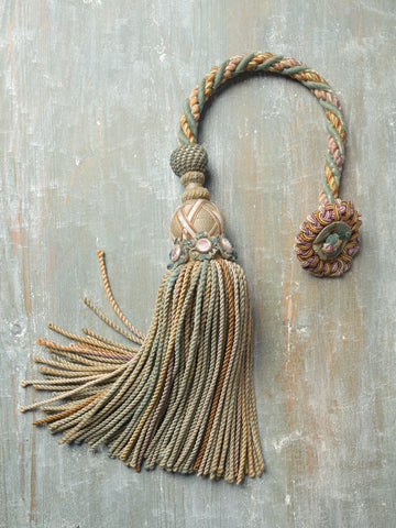 Antique French Silk tassel with rosette