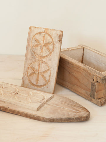 Antique Swedish Wooden Cheese Mould - Decorative Antiques UK  - 1