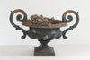 Antique French Cast iron Black Jardiniere - Decorative Antiques UK  - 2