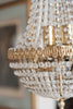Beautiful Vintage Mid Century Crystal Bag Chandelier - Decorative Antiques UK  - 2