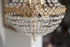 Beautiful Vintage Mid Century Crystal Bag Chandelier - Decorative Antiques UK  - 3