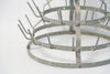 Antique French Galvanised Zinc Bottle Drying Rack Table top size