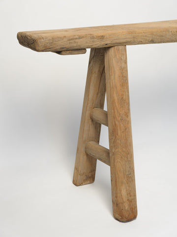 Beautiful Rustic Thin Pig Bench