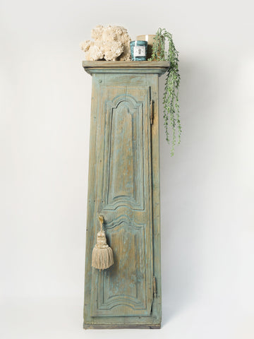 Antique 19th Century French Painted Tall Cupboard