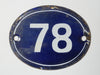 Antique French Enamel numbers