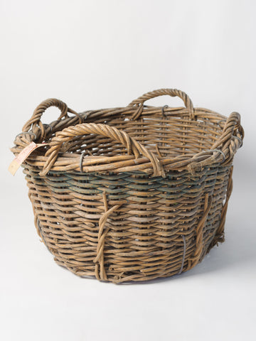 Antique French basket with four handles