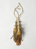 ANTIQUE ITALIAN CHURCH GILT WOOD AND FABRIC TASSELS