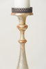 Antique 18th Century Italian Silver Gilt Candlestick