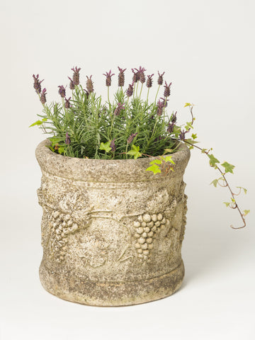Antique French Composite Stone Round Planter
