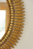 Mid Century Spanish Gilt Iron Sunburst Mirror