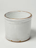 Antique Italian White Glazed Confit Pots from Naples
