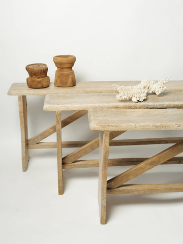 Antique French Rustic Benches