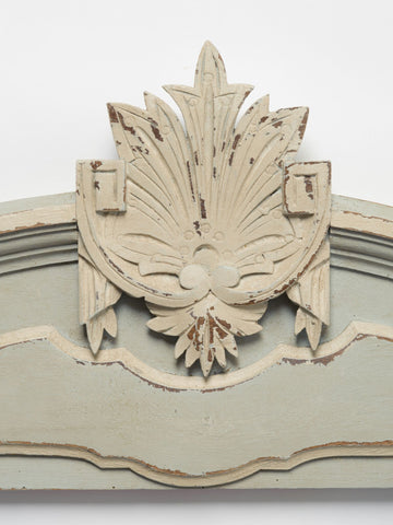 Antique French Painted Pediment