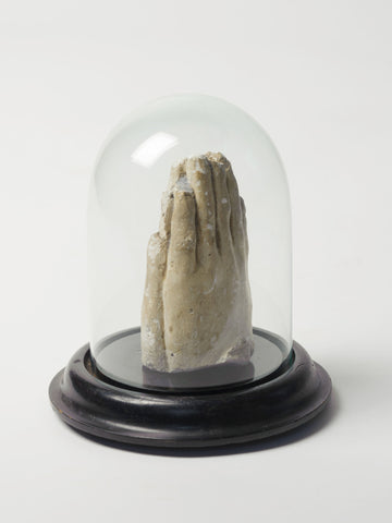 Antique French Plaster Praying Hands in Dome