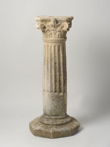 Antique French Reconstituted Stone Column Plinth/Pedestal