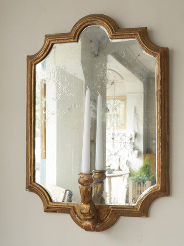 Amazing Antique French Mirrored Girondelles with foxed glass