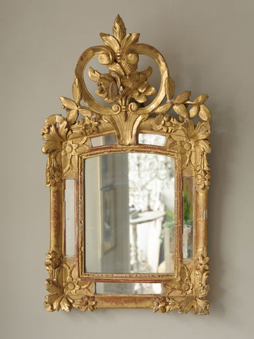 Antique 19th Century French Gilt Bridal Mirror