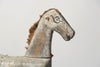 Antique French Toy Horse fragment with original paint