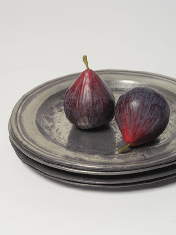 Collection Antique Pewter Plates