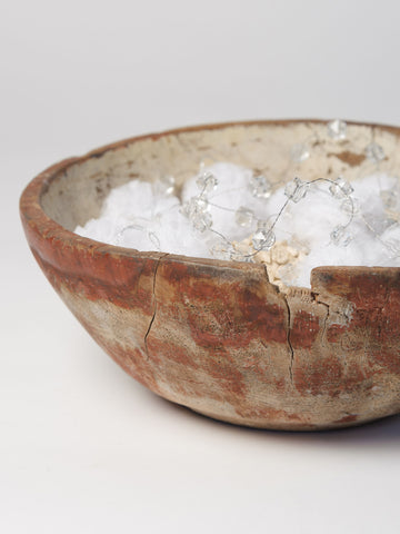 Amazing 18th Century Painted Swedish Root Bowl