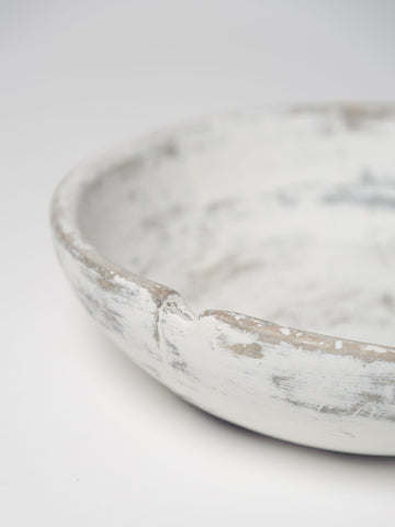 Antique Swedish painted root bowl