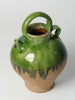 Vintage French Green glaze Olive Oil Jug/Pot