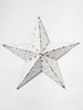 Amish Tin Barn star, painted white
