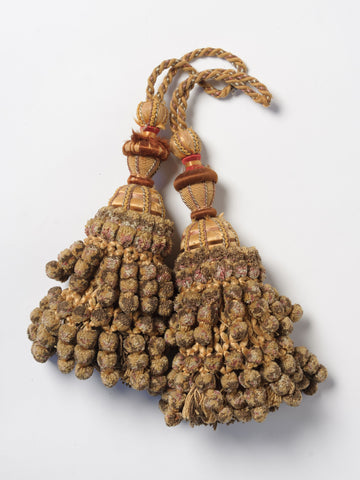 Antique 19th Century chenille Pom Pom tassels