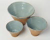 Beautiful Hungarian part glazed terracotta bowls