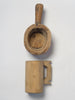Antique Hungarian cup and wooden scoop