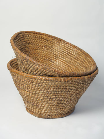 Antique Hungarian Woven Baskets