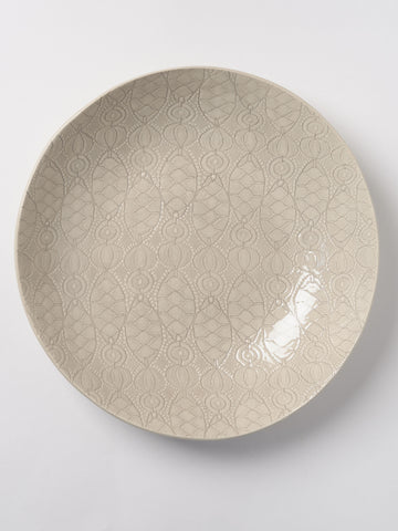 Wonkiware Large Spaghetti Bowl in Patterned Warm Grey