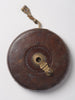 Vintage leather bound tape measure