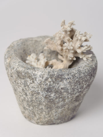 Antique French Stone Mortar, small size