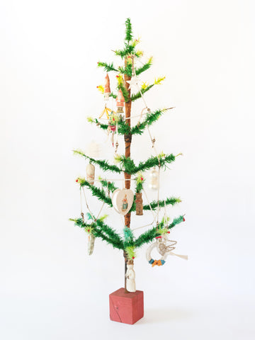 Amazing Vintage German Goose Feather Christmas Tree 3ft (92cm)