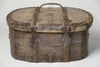 Antique Swedish Primitive Bentwood travel trunk