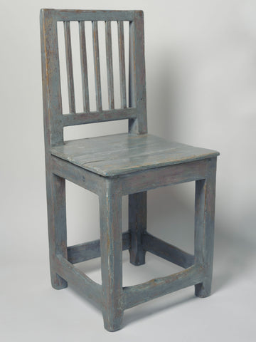 Antique Swedish Leksand style chair in Grey blue