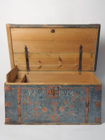 Antique Swedish Chest/Trunk dated 1828