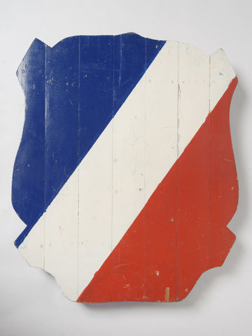 Antique French Flag Shield