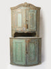 Amazing Antique 19th Century Swedish Corner Cupboard, Dry Scraped