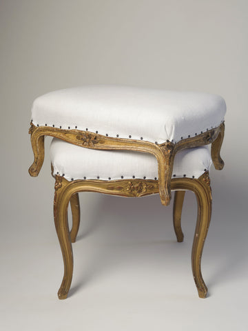 Two Antique 19th Century French Louis XVI Stool/Footstools