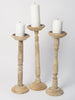 Bleached Balustrade Candlesticks