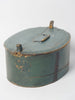 Antique Swedish Bentwood box with initials and metal repairs