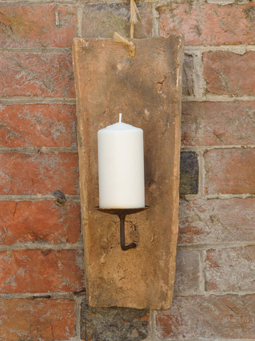Antique French Terracotta Roof Tile wall candle sconce