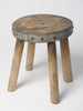 Antique French Rustic Milking stool